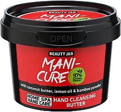 Düfte, Parfümerie und Kosmetik Handreinigungsöl mit Kokosnussbutter, Zitronenöl und Bambuspulver - Beauty Jar Mani-Cure Hand Cleansing Butter
