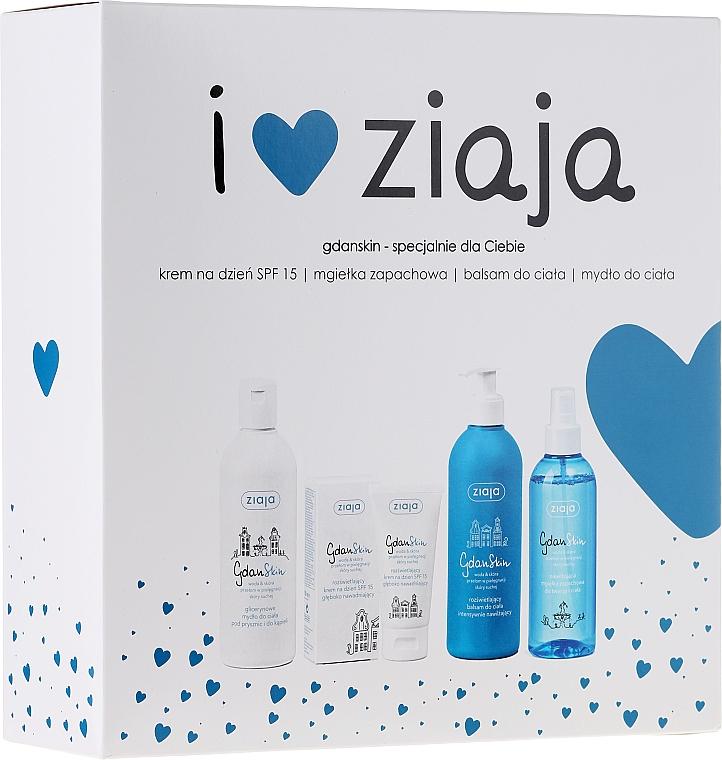 Körperpflegeset - Ziaja GdanSkin (Creme 50ml + Spray 200ml + Balsam 300ml + Seife 300ml)