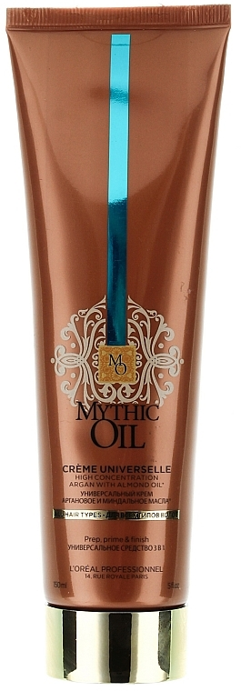 3in1 Nährendes Pre-Shampoo, Pflegeconditioner und Föhnbalsam mit Argan- und Mandelöl - L'Oreal Professionnel Mythic Oil Cream