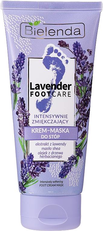 Aufweichende Fußcreme-Maske mit Lavendel und Sheabutter - Bielenda Lavender Foot Care Foot Cream Mask