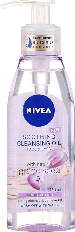 Beruhigendes Reinigungsöl für Gesicht und Augen mit Traubenkernöl - Nivea Cleansing Oil Soothing Grape Seed