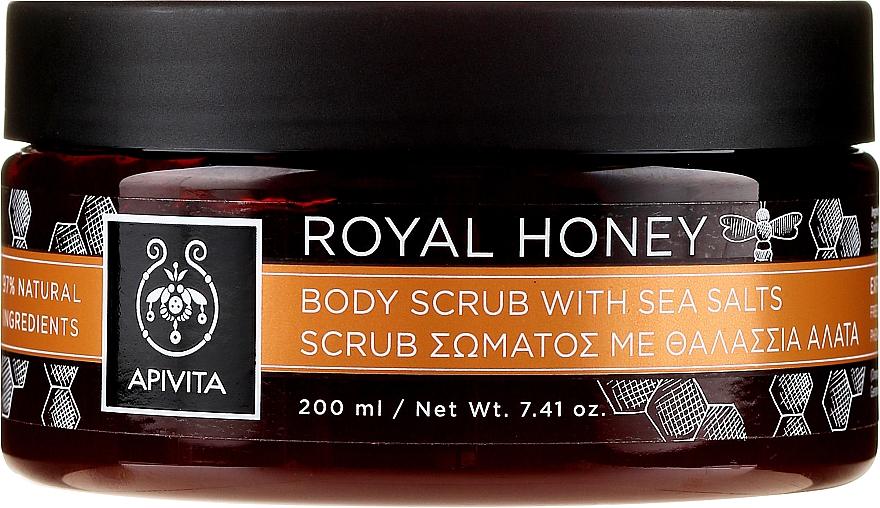 Glättendes und aufweichendes Körperpeeling mit Meersalz und Honig - Apivita Body Scrub With Sea Salts