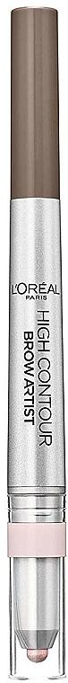 2in1 Augenbrauenstift und -Highlighter - L'Oreal Paris High Contour Brow Pencil & Highlighter Duo