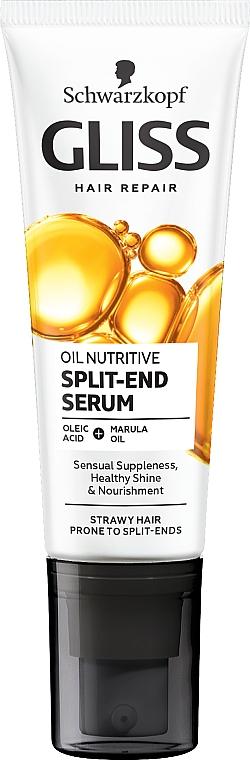 Haarspitzenfluid für längeres, splissanfälliges Haar - Schwarzkopf Gliss Kur Oil Nutritive 8 Presicious Oils