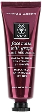 Düfte, Parfümerie und Kosmetik Anti-Falten Gesichtsmaske mit Trauben - Apivita Moisturizing Face Mask With Grape
