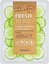 Düfte, Parfümerie und Kosmetik Beruhigende Tuchmaske für das Gesicht mit Gurkenextrakt - Tony Moly Fresh To Go Mask Sheet Cucumber