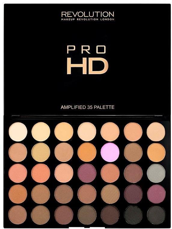 Lidschattenpalette - Makeup Revolution Pro HD Palette Amplified 35