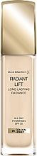 Düfte, Parfümerie und Kosmetik Langanhaltende Foundation mit Hyalurönsäure und hautglättenden Mikroperlen LSF 30 - Max Factor Radiant Lift Foundation