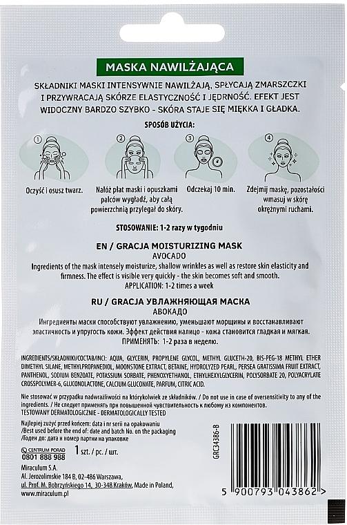 Feuchtigkeitsspendende Tuchmaske mit Avocadoöl - Gracja Moisturizing Mask — Bild N2