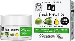 Düfte, Parfümerie und Kosmetik Peelingpaste für das Gesicht mit Olivenöl - AA Fresh Fruits Healthy Glow