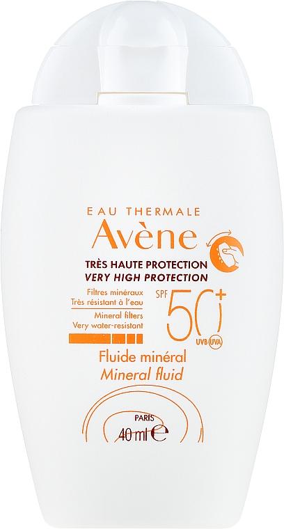 Mineralisches Sonnenschutzfluid für überempfindliche Gesichtshaut ohne chemische Filter SPF 50+ - Avene Eau Thermale Mineral Fluid SPF 50+ — Bild N2