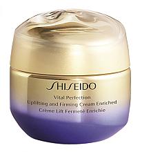 Düfte, Parfümerie und Kosmetik Reichhaltige straffende und festigende Anti-Aging Gesichtscreme gegen Falten und Pigmentflecken - Shiseido Vital Perfection Uplifting & Firming Cream Enriched