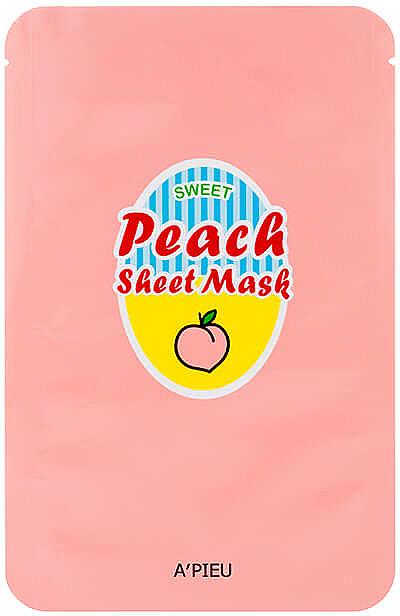 Regenerierende und glättende Tuchmaske mit Pfirsich- und Joghurtextrakt - A'Pieu Peach & Yogurt Sheet Mask