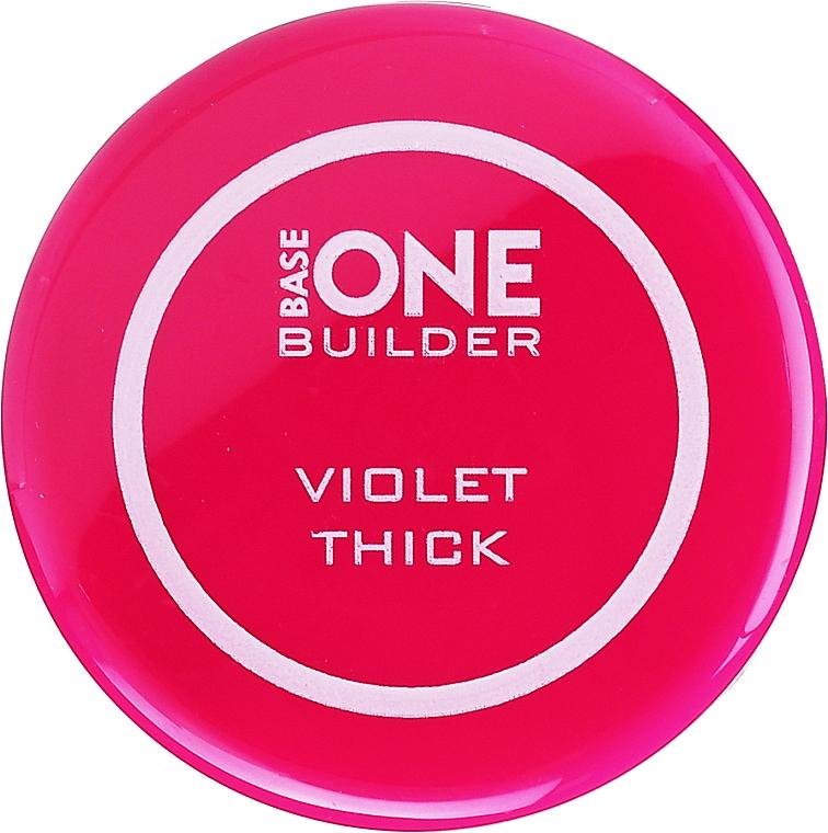 UV Nagelgel mit Kristalleffekt - Silcare Base One Thick Violet