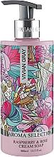 Düfte, Parfümerie und Kosmetik Flüssige Cremeseife mit Himbeer- und Rosenduft - Vivian Gray Aroma Selection Raspberry & Rose Cream Soap
