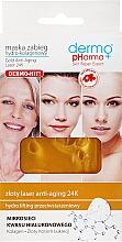 Düfte, Parfümerie und Kosmetik Feuchtigkeitsspendende und straffende Tuchmaske für das Gesicht mit Hyaluronsäure - Dermo Pharma Gold Anti-Aging Laser 24K