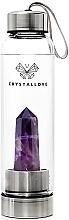 Düfte, Parfümerie und Kosmetik Wasserflasche mit Amethystkristall 550 ml - Crystallove