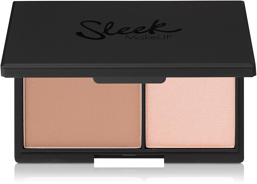Mattierender Gesichtspuder und Highlighter - Sleek MakeUP Face Contour Kit