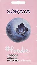 Düfte, Parfümerie und Kosmetik Pflegende Gesichtsmaske mit Heidelbeerextrakt - Soraya Foodie Nourishing Face Mask