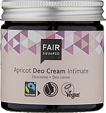 Düfte, Parfümerie und Kosmetik Deocreme für den Intimbereich mit Aprikosenöl - Fair Squared Apricot Deo Cream Intimate
