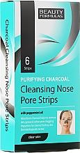 Düfte, Parfümerie und Kosmetik Nasenporenstreifen gegen Mitesser mit Aktivkohle und Pfefferminzöl - Beauty Formulas Purifying Charcoal Deep Cleansing Nose Pore