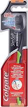 Düfte, Parfümerie und Kosmetik Zahnbürste mit Aktivkohle weich Slim Soft schwarz-grün - Colgate Toothbrush
