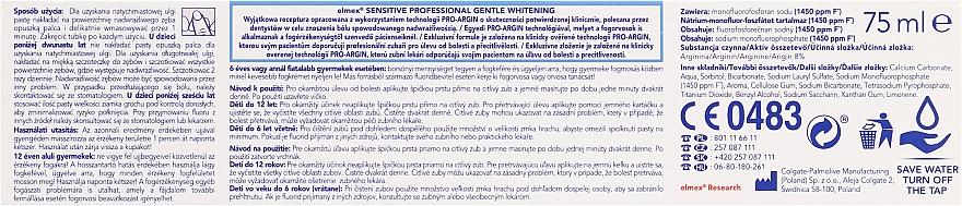 Aufhellende Zahnpasta mit Aminfluorid für empfindliche Zähne - Elmex Professional Sensitive Professional Gentle Whitening — Bild N2