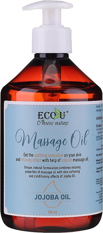 Pflegendes Massageöl mit Jojobaöl und Vitamin E - Eco U Jojoba Massage Oil