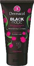 Entgiftende Peelingmaske mit Aktivkohle und Aloe Vera - Dermacol Black Magic Detox&Pore Purifying Peel-Off Mask — Bild N1