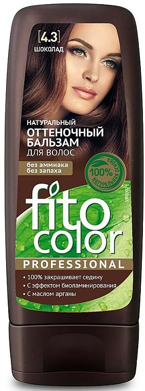 Tönungsbalsam für das Haar mit Arganöl - Fito Kosmetik FitoColor Professional (3.3 -bitter Schokolade)