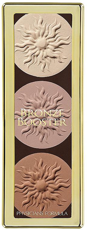 Highlighter Gesichtspalette - Physicians Formula Bronze Booster Glow-Boosting Strobe and Contour Palette Matte Sculpting Palette