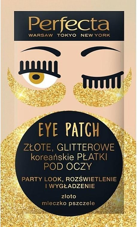 Straffende Augenpatches mit Gold und Gelée Royale - Perfecta Gold Glitter Eye Patch