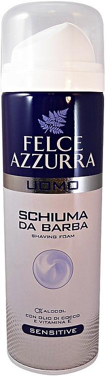 Rasierschaum mit Kokosnussöl und Vitamin E - Felce Azzurra Men Sensitive Shaving Foam — Bild N1
