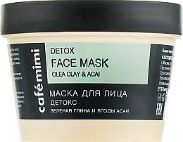 Düfte, Parfümerie und Kosmetik Detox-Gesichtsmaske mit grüner Tonerde und Acaibeeren - Cafe Mimi Face Mask