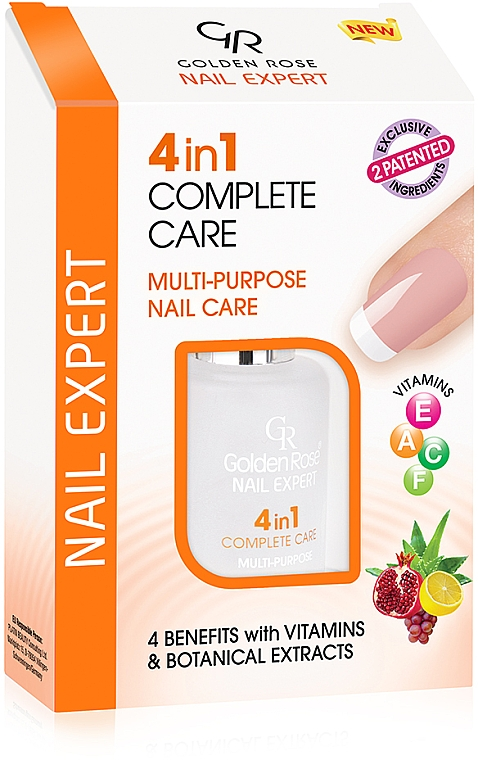 4 in 1 Nagelpflege - Golden Rose Nail Expert 4 in 1 Complete Care