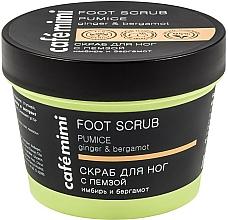 Düfte, Parfümerie und Kosmetik Fußpeeling mit Ingwerextrakt, Bergamottenöl und Bimsstein - Cafe Mimi Foot Scrub Pumice