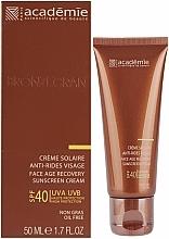 Düfte, Parfümerie und Kosmetik Regenerierende Anti-Aging Sonnenschutzcreme für das Gesicht SPF 40 - Academie Bronzecran Face Age Recovery Sunscreen Cream