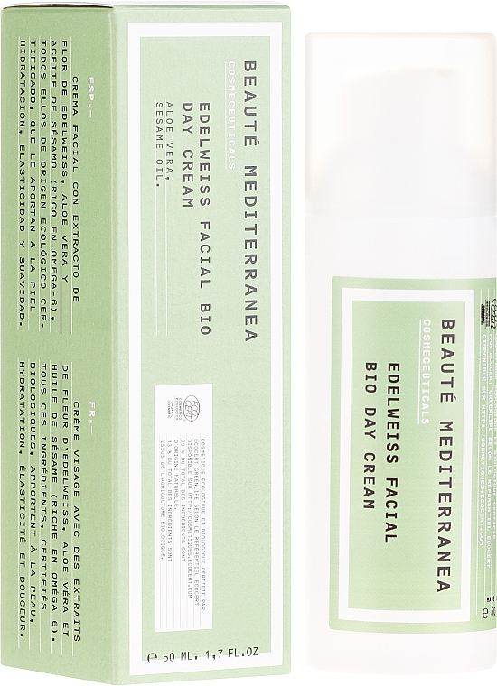 Tagescreme mit Edelweiß-Extrakt - Beaute Mediterranea Edelweiss Facial Bio Day Cream