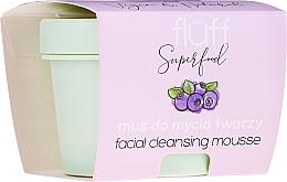 Düfte, Parfümerie und Kosmetik Gesichtsmousse mit wilder Blaubeere - Fluff Facial Cleansing Mousse Wild Blueberry