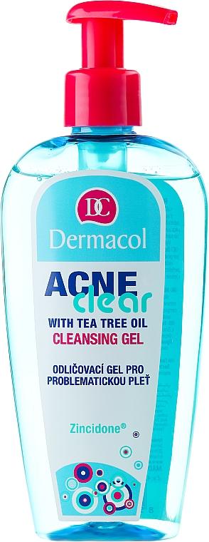 Antibakterielles Abschmink- und Reinigungsgel mit australischem Teebaumöl für problematische Haut - Dermacol Acne Clear Make-Up Removal & Cleansing Gel — Bild N1