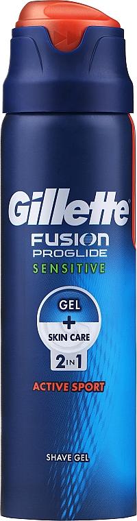 "Rasiergel ""Active Sport"" - Gillette Fusion ProGlide Sensitive Active Sport 2 w 1"