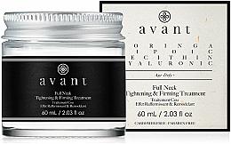 Düfte, Parfümerie und Kosmetik Straffende Anti-Aging Halscreme mit Moringa-Öl und Lecithin - Avant Skincare Full Neck Tightening and Firming Treatment
