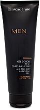 Düfte, Parfümerie und Kosmetik 2in1 Duschgel für Männer - Academie Men Hair And Body Shower Gel 2 In 1