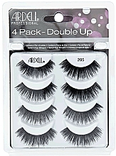 Düfte, Parfümerie und Kosmetik Set Künstliche Wimpern - Ardell Double Up 4 Pack 205 Lashes 8 St.