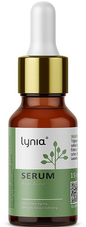 Gesichtsserum gegen Akne mit Hanf- und Lavendelöl - Lynia Anti-Acne Serum — Bild N1