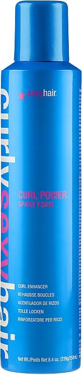 Schaum-Spray für tolle Locken - SexyHair CurlySexyHair Curl Power Spray Foam Curl Enhancer