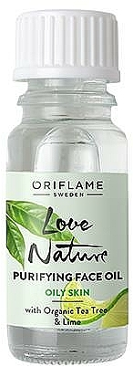 Gesichtsreinigungsöl mit Teebaum und Limette - Oriflame Love Nature Purifyng Face Oil