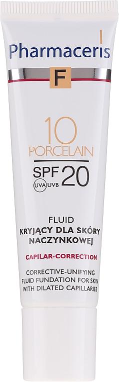 Korrigierendes getöntes Gesichtsfluid für Kapillarhaut SPF 20 - Pharmaceris F Capilar-Correction Fluid SPF20