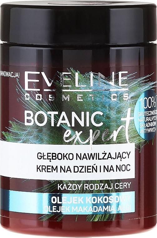 Tief feuchtigkeitsspendende Tages- und Nachtcreme für alle Hauttypen mit Kokosöl - Eveline Cosmetics Botanic Expert Kokos Day & Night Cream