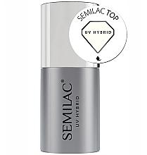 Düfte, Parfümerie und Kosmetik Glänzender UV Überlack - Semilac UV Hybrid